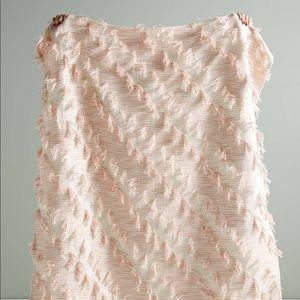 NWT Anthropologie Textured Jorja Throw Blanket